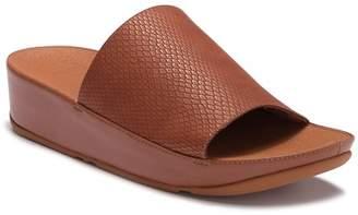 FitFlop Ginny Snake Embossed Slide Sandal