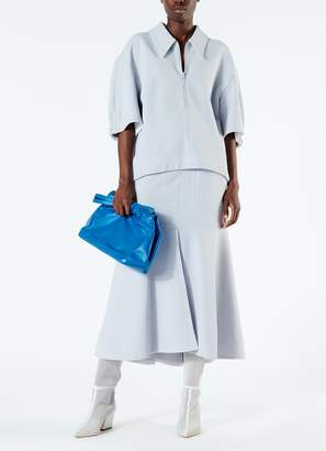 Tibi Frisse Sculpted Polo Top
