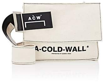 A-Cold-Wall* Men's Leather-Trimmed Canvas Crossbody Utility Pouch