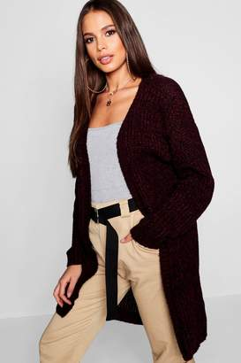 boohoo Tall Marl Knit Edge To Edge Cardigan