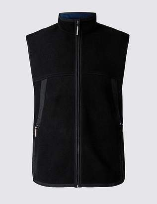 Marks and Spencer Textured Zip Through Gilet