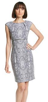 Calvin Klein Pleat Neck Sheath Dress