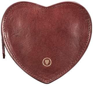 Maxwell Scott Bags Italian Leather Heart Handbag Organiser In Wine