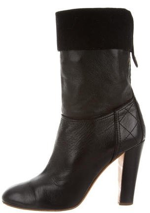 Chanel Mid-Calf Leather Boots