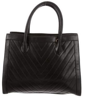Chanel Chevron Leather Tote