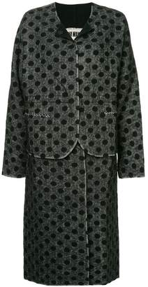 Uma Wang polka dot single breasted coat