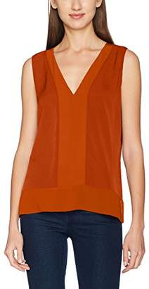 French Connection Women's Classic Crpe Lght Slss VNK Top Blouse,8 (Size: X-Small)
