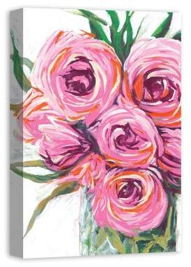 House of Hampton 'Vase with Bright Flowers' Acrylic Painting Print on Canvas