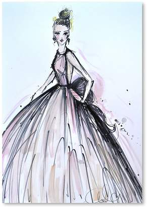 Americanflat Pink Elegance Print Art, Print Only