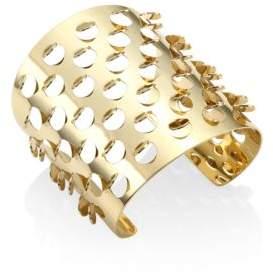 Alexis Bittar Elements 10K Yellow Gold Grater Cuff Bracelet