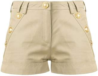 Balmain button embellished shorts