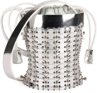 Paco Rabanne 14#01 Chain-Link Mini Bucket Bag, Silver
