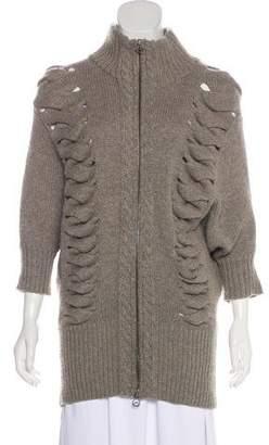 Robert Rodriguez Wool & Cashmere Zip-Up Sweater
