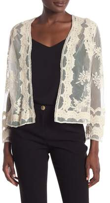 Ronni Nicole Lace Long Sleeve Shrug