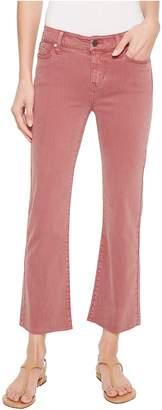Liverpool Hannah Crop Flare in Slub Stretch Twill in Roan Rouge Women's Casual Pants