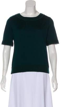 Andrew Gn Short Sleeve Wool Top w/ Tags