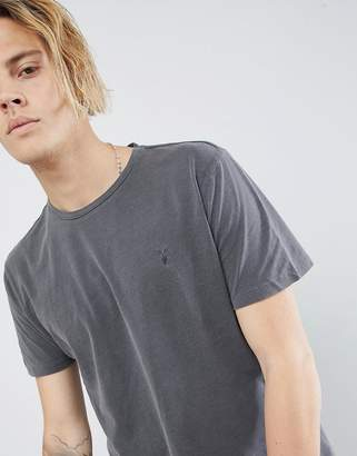 AllSaints T-Shirt In Gray With Logo