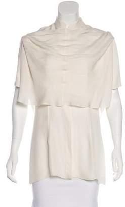 Cushnie et Ochs Silk Button-Up Top