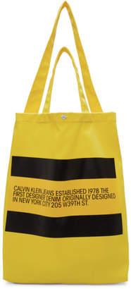 Calvin Klein Jeans Est. 1978 Yellow Logo Tote