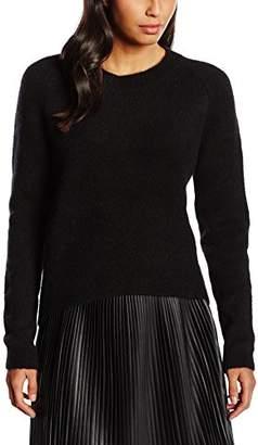 Mexx Women's MX3001277 Long Sleeve T-Shirt, Schwarz (Black 001)