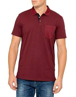 Armani Exchange Alx Yardage Print Polo