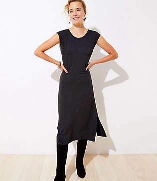 LOFT Petite Cap Sleeve Midi Dress
