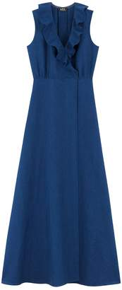 A.P.C. Ingrid Dress in Indigo Delave