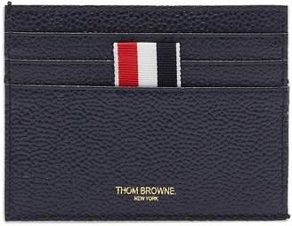 Thom Browne Stripe pebble grain leather card holder