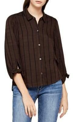 BCBGeneration Striped Button-Down Shirt