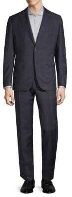 Caruso Windowpane Wool Suit