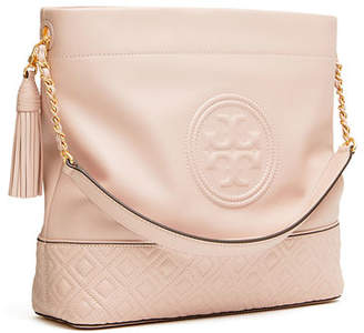 Tory Burch Fleming Quilted Leather Hobo Bag