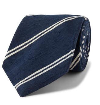 Kingsman + Drake's 8cm Striped Slub Silk Tie