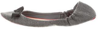 Christian Louboutin Christian Louboutin Wool Bow-Accented Flats