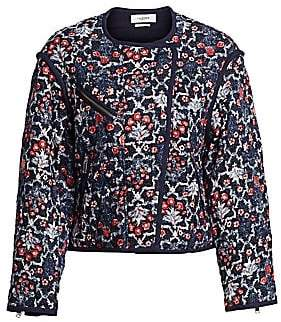 aa404dfb187 Etoile Isabel Marant Women's Manae Floral Quilted Linen Jacket