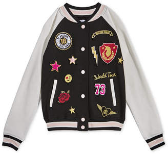 Epic Threads Big Girls Varsity Patch Jacket, Created for Macy's