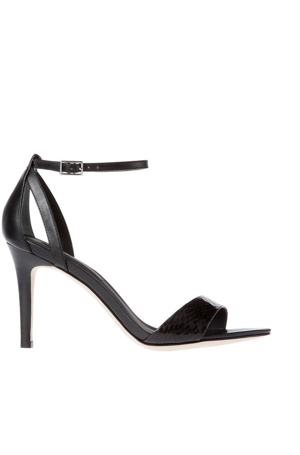 Ann Taylor Mylan Exotic Leather Ankle Strap Sandals