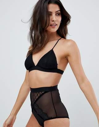 Glamorous triangle lace bra
