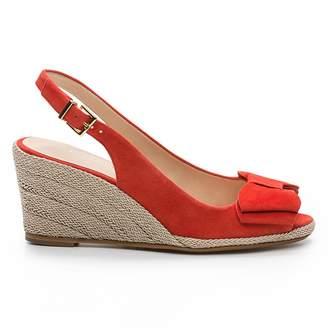 Cosmo Paris COSMOPARIS Hidi Mir Leather Wedge Sandals