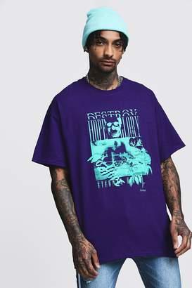 boohoo Oversized Print T-Shirt