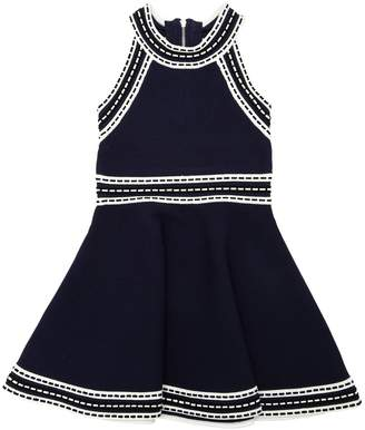 Milly Minis Viscose Blend Knit Ottoman Dress