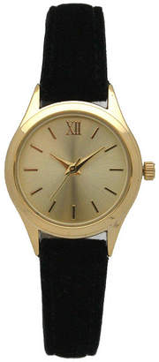 OLIVIA PRATT Olivia Pratt Velvet Womens Black Strap Watch-17439black