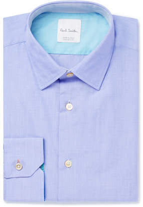 Paul Smith Soho Slim-fit End-on-end Cotton Shirt