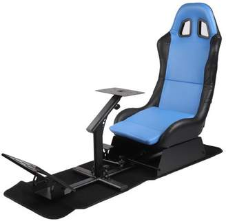 BordArgent Comfortable Racing Simulator Seat With Steering Wheel Support Durable Driving Seat Compact Video Game Accessories