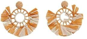 MANGO Embossed hoop earring