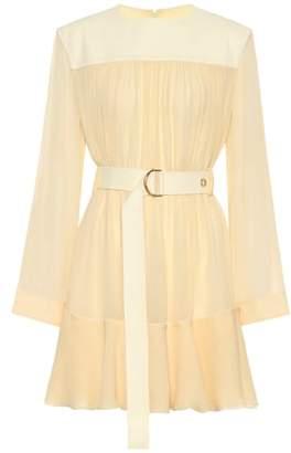Chloé Silk-blend mousseline minidress