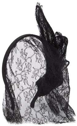 Maison Michel Clementine Lace Veil Headband - Womens - Black