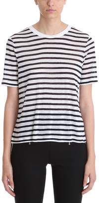 Alexander Wang White Blue Striped Tee