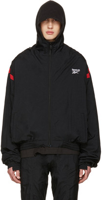 Vetements Black Reebok Edition Reworked Track Jacket $1,210 thestylecure.com