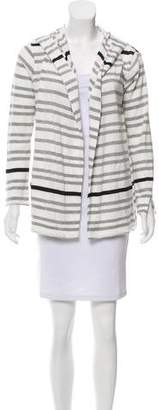 White + Warren Hooded Knit Cardigan
