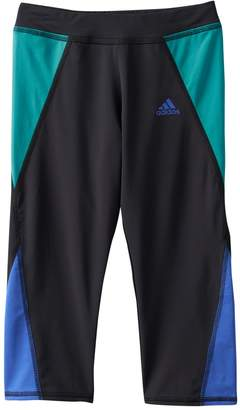 adidas Girls 4-6x climalite Colorblocked Capri Running Tights